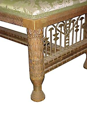 Antique Gilt Wood Bench w/ Lotus Carvings 1900-1950, France  #4409 2