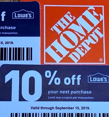 2 10% Off Home Depot Vouchers Exp April 15, 2020 Menards Lowes Original 4