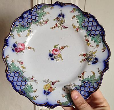 Paire Assiettes porcelaine XIXéme Bayeux ? à identifier 2