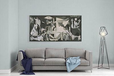 Quadro Picasso Guernica Stampa su Tela Canvas Vernice Pennellate Effetto Dipinto 4