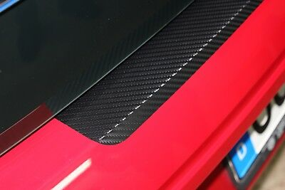 VW SHARAN 7N  Ladekantenschutz Lackschutzfolie Schwarz Mat Schutzfolie 10113