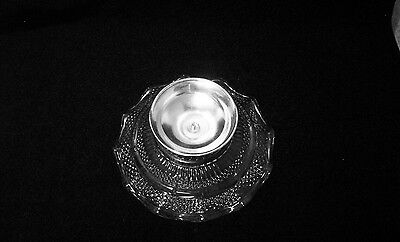 Vintage Glass & Silver Plate Footed Ruffled Edge Nut Dish 5