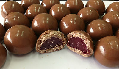 1Kg Milk Chocolate Coated Red Raspberries Lollies Candy Buffet Chocolates Choc 2