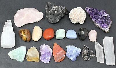 20 pcs Beginners Crystal Kit - Chakra Protection Healing Sets - Crystal Gift 11