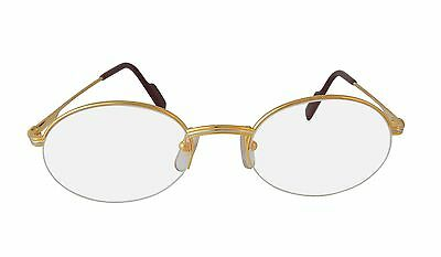 59e66a6c0fa ... NEW CARTIER EYEGLASSES T8100354 GOLD ROUND OPTICAL FRAME FRANCE 51mm  AUTHENTIC 2