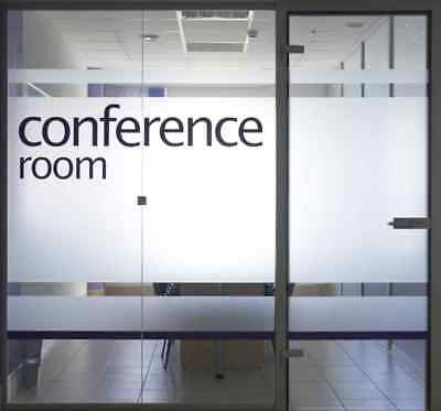 Frosted Vinyl, Etched Window Film, Self-Adhesive 24/7 Privacy Glass Tint 4