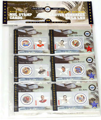 2001 2002 Canada Post NHL Hockey Stamp Cards 2 SETS 12 CARDS SEALED 6
