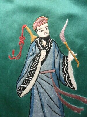 Chinese 100%Hand embroidered Peking Embroidery Art:chinese ancient figure people 4