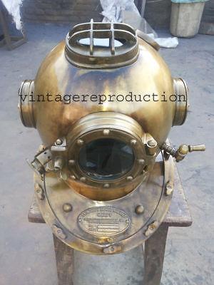 Antique Scuba SCA Divers Diving Helmet US Navy Mark V Deep Sea  Divers Marine 3