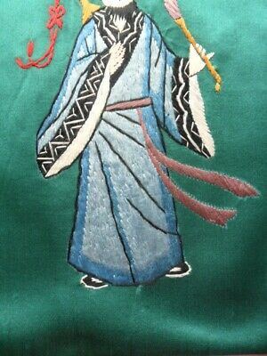 Chinese 100%Hand embroidered Peking Embroidery Art:chinese ancient figure people 5