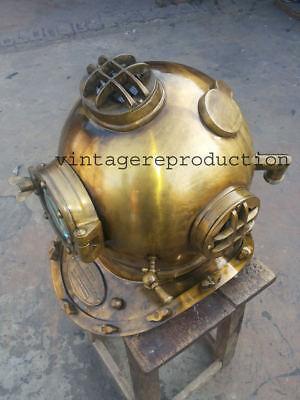 Antique Scuba SCA Divers Diving Helmet US Navy Mark V Deep Sea  Divers Marine 5