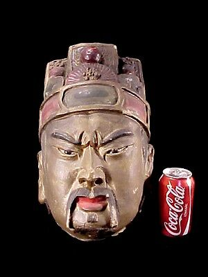 Terra Cotta Warrior Han Ming Dynasty Chinese Emperor Head Clay Tomb Burial Relic 4