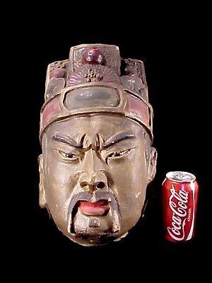 Terra Cotta Warrior Qing Dynasty Emperor Or Generals Head Clay Tomb Burial Relic 4 • CAD $948.62