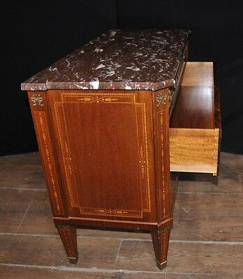 Antique French Empire Chest Drawers Commode Circa 1920 Marquetry Inlay 2 • £1,200.00