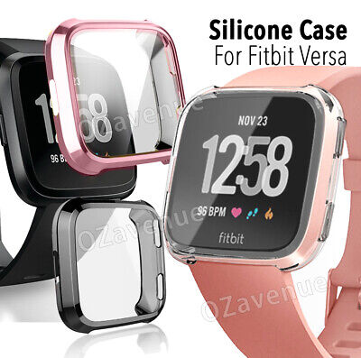For Fitbit Versa Silicone TPU Shell Case Screen Protector Frame Cover hot new BO 2