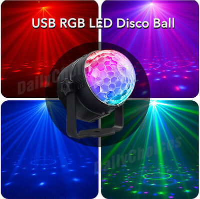 USB RGB LED Disco Ball DJ Party Light Effect Strobe Remote Sound Activated Auto 2