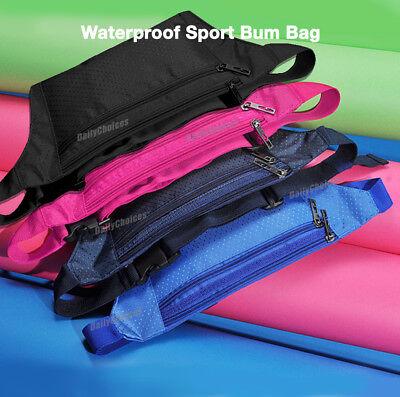 Running Hiking Sport Bum Bag Travel Money Phone Fanny Pack Waist Belt Zip Pouch