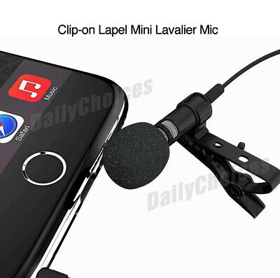Lavalier Microphone 3.5mm Lapel Clip-on Mic for iPhone & Android Smartphones 2