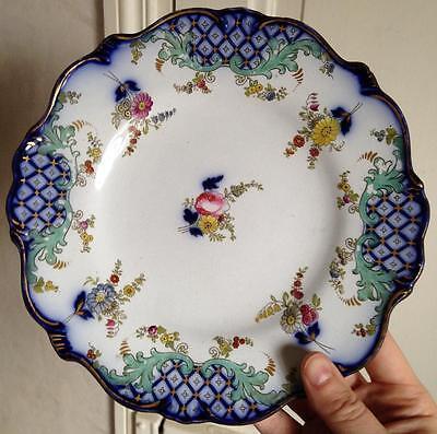 Paire Assiettes porcelaine XIXéme Bayeux ? à identifier 4