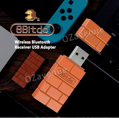 8Bitdo Wireless Bluetooth Receiver USB Converter For Nintendo Switch Adapter AU 2