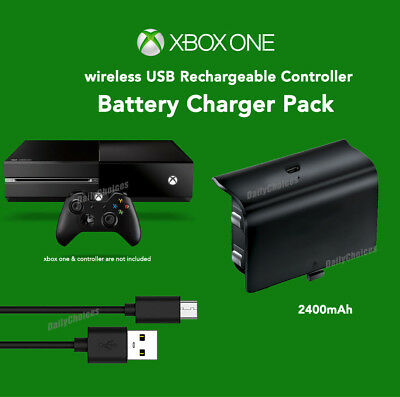 For Xbox One Battery Charger Pack Wireless USB Rechargeable Controller 2400mA 2