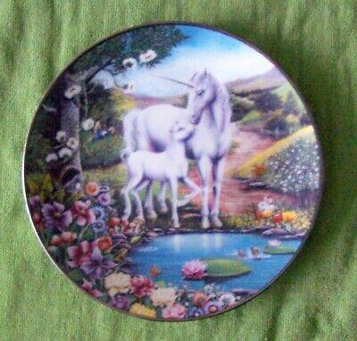 The Magic Begins Kingdom Of The Unicorn Collector Plate Margaret Ferraro