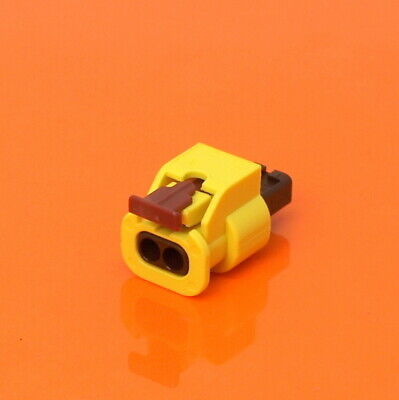VW VAG 2 Pin 1.2mm Yellow Sealed Connector Kit 5K0973323 For VW Airbag Sensor