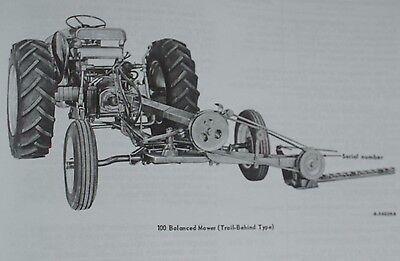 IH INTERNATIONAL FARMALL McCormick 100 2pt 3pt Sickle Mower Manual +  Brochure