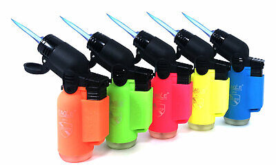 5 Pack Eagle Torch Neon Color 45 Degree Angle Jet Flame Lighter Refillable 2