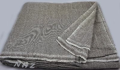 """100/% Natural Extra Large Himalayan Cashmere Blanket//Throw 90/""""x108/"""" From Nepal"""