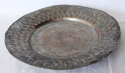 Antique COPPER Metal Dish Tray Soldier Army Serving – Goth Medieval 1700s, Greek 7