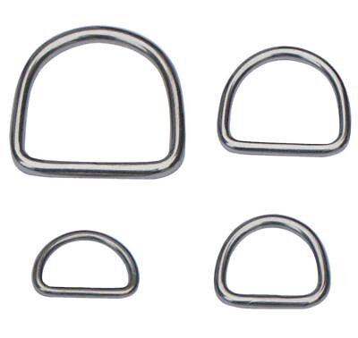 STAINLESS STEEL D-Rings & O-Rings ~ WELDED Buckles for Webbing Leather Craft DIY 3