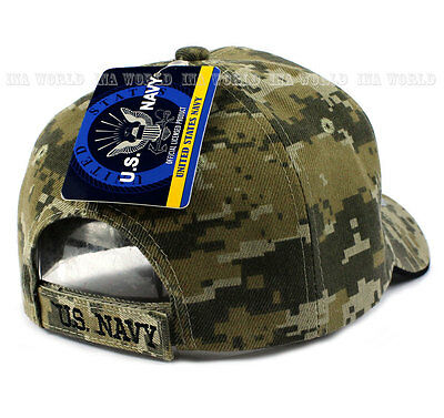 9fbe6807c0a ... U.S. NAVY hat Military NAVY Official Licensed Baseball cap Strap-  Digital Camo 4