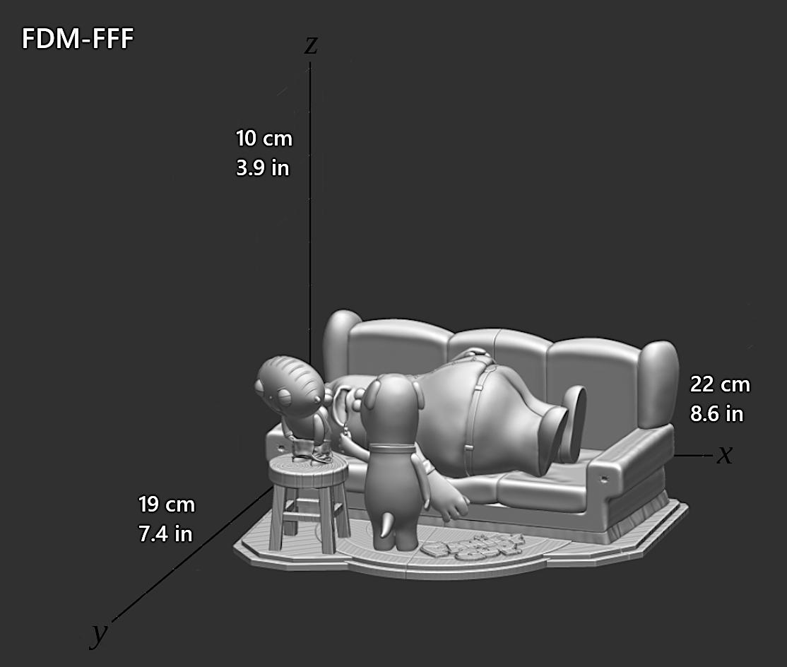 Family Guy (Griffin) File STL-OBJ for 3D Printing FDM-FFF DLP-SLA-SLS 10