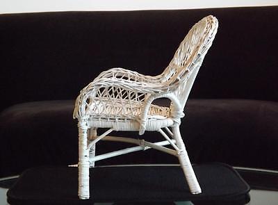 WHITE WICKER CHAIR American Girl Doll Furniture 10
