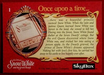 Walt Disney S Snow White Card 01 Once Upon A Time Skybox 1993 Eur 4 43 Picclick Fr