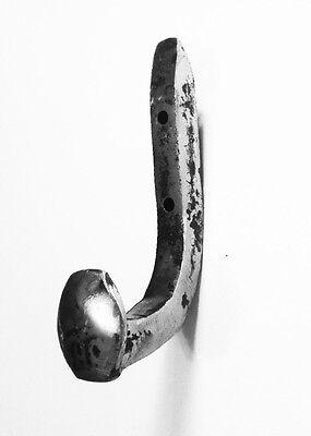 9 Brushed Steel Antique Coat Hooks Old Railroad Spikes Heavy Duty Shop Hanger 9
