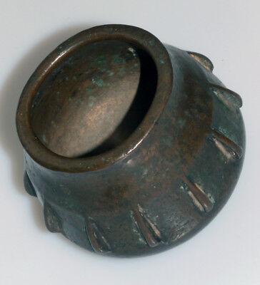 Originaler Bronze Rippenmörser Spanien Maurisch Kugelförmig 16. Jh. Mortar