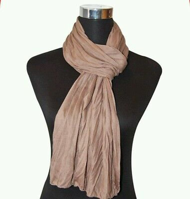 e2a990c334de4 ... UNISEX Jersey Damen Herren Schal Crinkle Tuch Knitter Optik Crash Uni  Farben ver 4