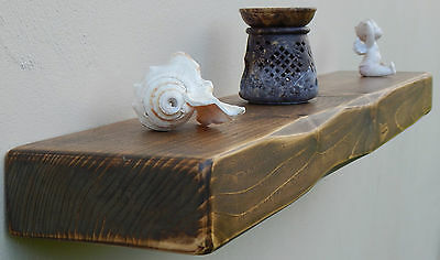 3 Inches Thick  Floating Shelf Mantel Rustic Reclaimed Wooden Storage Shelves 4