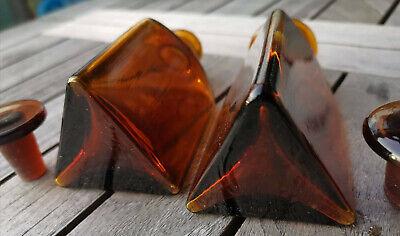 Apotheker - Altes Pärchen für Morphine ohne Etikett-SELTEN! Dreieckige Flaschen 7