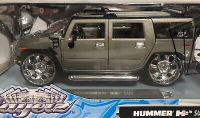 Maisto Playerz Hummer H2 Suv Grey 1:18 Scale Die Cast! Free Shipping 2