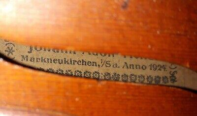 1924 Markneukirchen German Violin Made by Johann Adolf Ficker. Plays beautifull 2