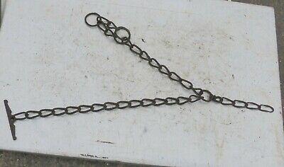 alte Eisenkette 🐱 Kette Gliederkette Bauer rostig 2 Enden geschwungene Glieder 4