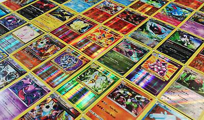 Pokemon TCG : 40 RARE OFFICIAL CARDS w/ a GUARANTEED EX, GX, or MEGA EX + HOLOS 4