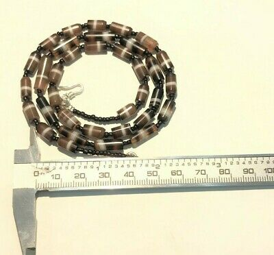 APHRODITE- ANCIENT WESTERN aSIATIC bANDED aGATE aND sTONE bEADS nECKLACE 4
