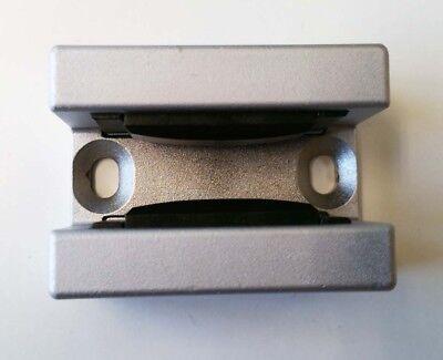HELM Bodenführung 3009 Alu silber eloxiert für Glasschiebetür von 8 - 12 mm