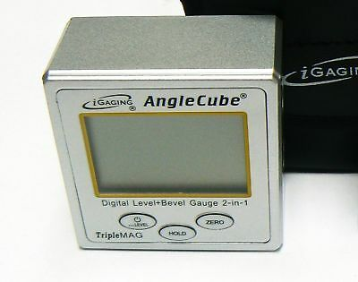 iGaging Angle Cube Digital Protractor Gauge Magnetic Angle & Level Sensor Bevel 4