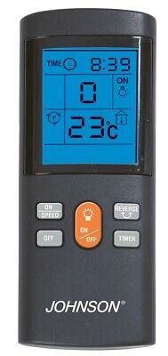 Ventilatore da soffitto 4 pale a scomparsa Johnson Lustra luce telecomando Rotex 4