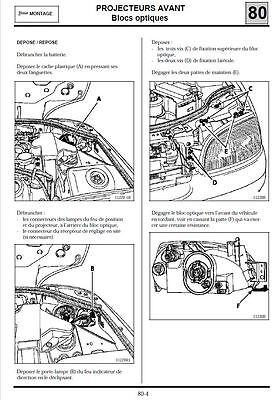 manuel atelier entretien technique réparation maintenance Renault Clio 1 - Fr 12
